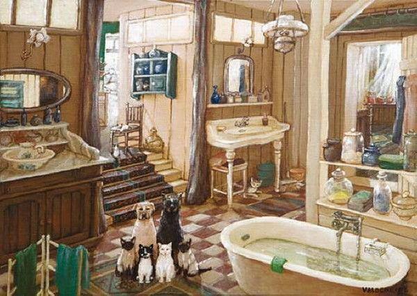 Chiens dessins humour autres page 2 for Salle de bain art nouveau
