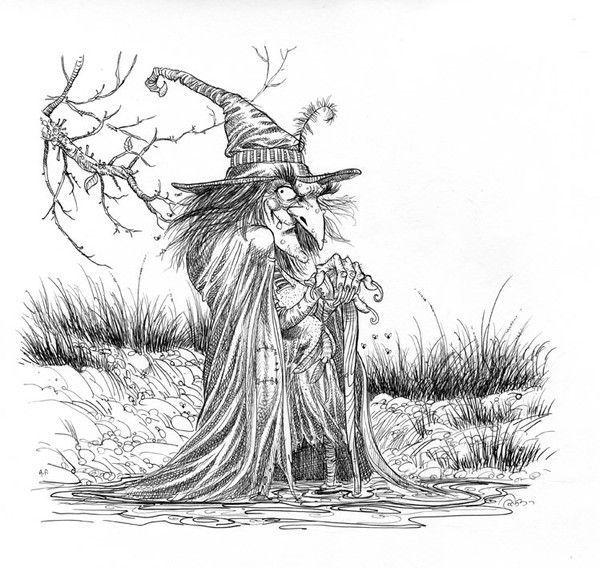 sorciere dessin old witch - Dessin De Sorciere