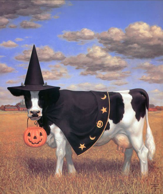 VACHES-TE-HALLOWEEN COW