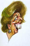 CARICATURES- MARGARET THATCHER-1-