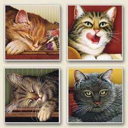 CHATS-CAT COASTERS-WYSOCKI